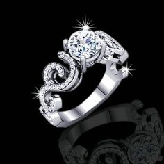 """10 amazing and """"beautiful engagement Rings for Women are here now! It is a fact that the engagement ring has to be pretty looking and amazing enough, o. Cheap Wedding Rings, Antique Wedding Rings, Beautiful Wedding Rings, Wedding Rings For Women, Dream Wedding, Unusual Engagement Rings, Buying An Engagement Ring, Diamond Engagement Rings, Black Diamond Jewelry"""