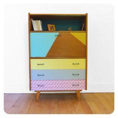 secretaire vintage meuble retro vintage furniture meuble années 50