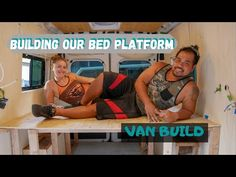 If you're converting youre van to a campervan, heres a detailed step by step guide on how to build a van conversion bed frame for your camper. Van Conversion Bed Frame, Van Conversion Interior, Camper Van Conversion Diy, Van Insulation, Diy Van Conversions, Rent A Campervan, Van Bed, Camper Beds, Built In Bed