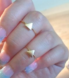 Triangle Knuckle Ring-Layering Above the Knuckle Gold Brass Stackable Midi Ring on Etsy, $9.50