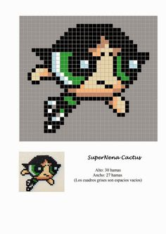 Powerpuff Girls Hama Beads Pattern