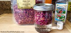 How to infuse witch hazel with roses