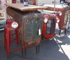 repurposing ferguson tractor parts - Rose Bowl CA flea Market