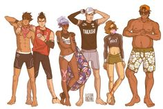 Notice the ones without names on their clothes dont have confirmed last names yet<<you know. Except Lance fucking MCCLAIN
