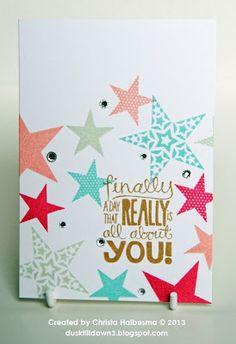 Stampin' Up! Simply Stars & Really Good Greetings Christa Halbesma