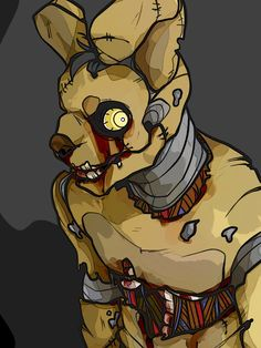 Fnaf Springtrap by m0r0xide on DeviantArt<<< the last mini game gives away who springtrap is and the answer is amazing