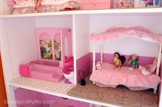 DIY Barbie House: Build your own Barbie house for your dolls to play in. Add your own Barbie furniture and decor for the perfect gift. Includes 4 rooms.