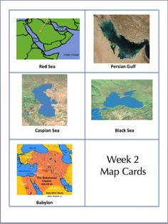 Geography cards from