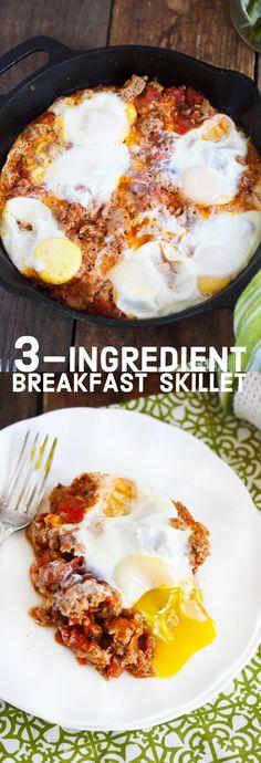 3-Ingredient Breakfast Skillet- Gluten-free, dairy-free, paleo | Lexi's Clean Kitchen