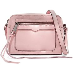 Rebecca Minkoff - Avery Textured-leather Shoulder Bag (415 RON) ❤ liked on Polyvore featuring bags, handbags, shoulder bags, pastel pink, pastel pink purse, pink shoulder handbags, rebecca minkoff, shoulder handbags and shoulder bag purse
