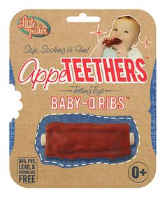 Teething Toys - BPA Free - Baby Q Ribs Appeteether : Appeteethers Baby Sense, Cool Baby Stuff, Kid Stuff, Funny Stuff, Random Stuff, Baby Teethers, Teething Toys, Baby Shower Games, Funny Babies
