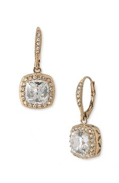 Nadri Princess Earrings available at #Nordstrom these would be perfect for my mom with her glitter gold dress and shoes #Nordstromweddings