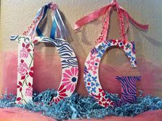 Delta Gamma Hand Painted Letters. via Etsy.