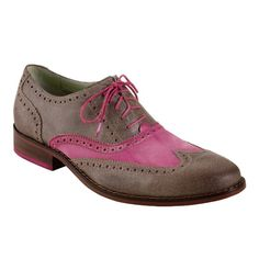 Cole Haan Air Colton Casual Wing Tip Oxford in Smoke/Fuschia for Men...saw these at Cole Haan Columbus Circle today & I love them!