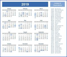 printable calendar 2019 holidays calendar2019 printablecalendar2019 holidays2019 calendar 2019 template free printable