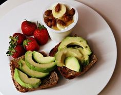 Avocado and strawberries - my 2 faves