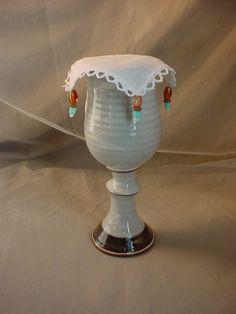 Vtg White Irish Linen Goblet Cover Renaissance Feast Gear O2115 Mug Cup Tankard #Handmade Seller florasgarden on ebay