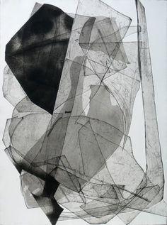 Batholith Etching, Monoprint #D-4, 2011, by Eben Goff