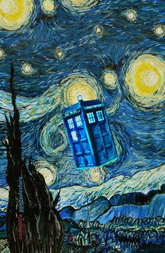 Tardis Doctor Who Starry Night Part 2 Art Print
