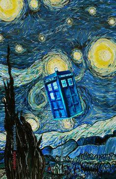 Tardis Doctor Who Starry Night Part 2 Art Print