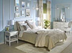 Świetne pomysły na wystrój wnętrz. Subtelna sypialnia.