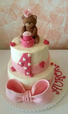 Torta di compleanno in pasta di zucchero