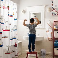 Maritime Shower Curtain The Land Of Nod