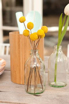 "Other fun floral pom pom favourites of ours are these stunning ""billy buttons""! These Australian Native florals have made a come back in recent years and make a really lovely and fun addition to almost any wedding floral theme."