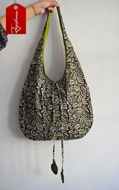 Embroidered Hobo Bag - Block Print Hobo Bag -Shoulder Bag - #Cotton Bag - #Tote Bag - #Beach Bag #Etsy store etsy.me/1A8jAdt