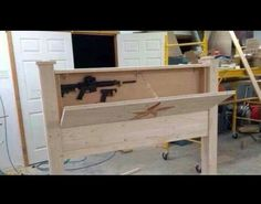 Gun rack headboard..... amazing