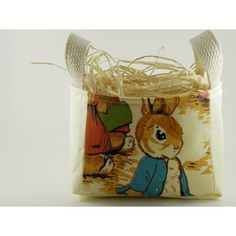 Vintage Beatrix Potter Peter Rabbit Fabric Easter Basket From Good Wishes Quilts  Amazing #Easter #Baskets from @Etsy