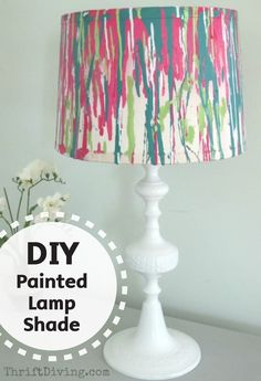 1000 ideas about painting lampshades on pinterest for Lamp shade painting ideas