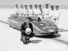 Here's the Challenger team that made Mickey Thompson the fastest man in the world when he reached 406.60 mph on September 9, 1960, at the Bonneville Salt Flats
