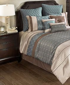 Parker 10 Piece Queen Comforter Set - Bed in a Bag - Bed & Bath - Macy's