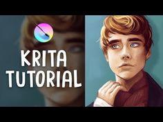 Free Krita Tutorials: The Ultimate List For Digital Artists & Animators Digital Art Tutorial, Concept Art Tutorial, Digital Painting Tutorials, Art Tutorials, Digital Paintings, Drawing Tutorials, Charcoal Drawing Tutorial, Charcoal Drawings, Oil Painting Basics