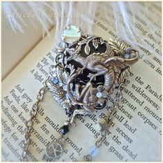 Uni Dragon Brooch ~ Guardian of Dreams ~ Medieval, Gothic, Renaissance-inspired Fantasy Pin