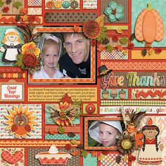 Autumn Fun - Give Thanks by Jady Day Studio  Technobabble template pack by Little Green Frog Designs
