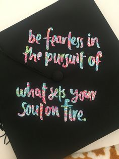 Easy graduation cap decoration - vinyl letters!
