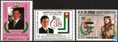 Postage Stamps - Jordan - 38th birthday King Abdullah II.