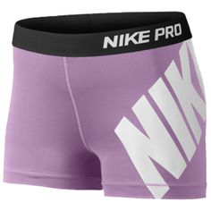 "Nike Pro 3"" Compression Shorts - Women's - Violet Shock/Black/White. Sooo many other cute spandex on here as well!"