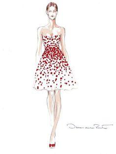 Prêt-à-Random: Oscar de la Renta Sketches Elle Fashion, Fashion Art, Trendy Fashion, Fashion Models, Fashion Women, High Fashion, Illustration Mode, Fashion Illustration Sketches, Fashion Sketches