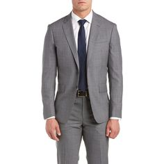 Todd Snyder Mayfair Fit Suit With Flat Front Pant (280 BGN) ❤ liked on Polyvore featuring men's fashion, men's clothing, men's suits, nocolor, mens brown suit, mens grey suits, mens patterned suits, mens plaid suit and mens tailored suits