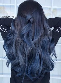 85 silver hair color ideas and tips for dyeing maintaining your grey hair 10 Dyed Hairstyles Color dyeing Grey Hair Ideas maintaining Silver Tips Cute Hair Colors, Hair Dye Colors, Ombre Hair Color, Cool Hair Color, Indigo Hair Color, Hair Color Ideas For Black Hair, Different Hair Colors, Pelo Color Azul, Silver Hair Dye