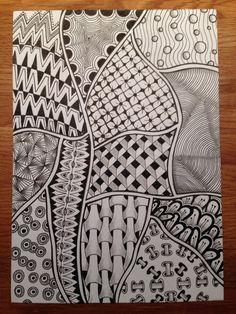 Wat patroontjes uitproberen. Werkt toch wel erg ontspannend en inspirerend :-)