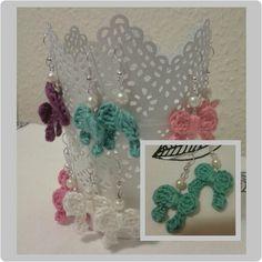 #bow#crochetearrings