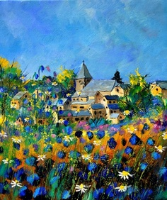 Summer in Awagne , painting by artist ledent pol