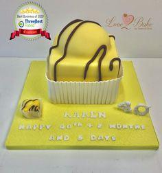 Yellow French Fancy - Mr Kipling cake - July 2020 Cake Business, Cake Makers, Novelty Cakes, Homemade Cakes, Birthday Cake, Fancy, Baking, Yellow, Desserts