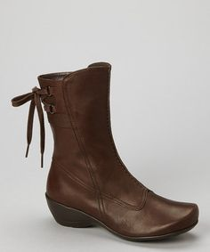Take a look at this Mocha Erica Wedge Boot by Antia Shoes on #zulily today!