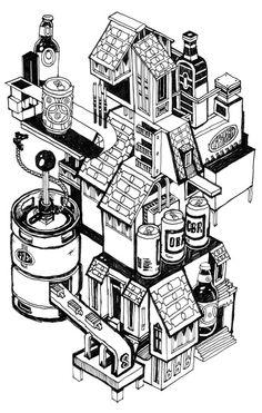 beer machine: post #777 on my sketchblog