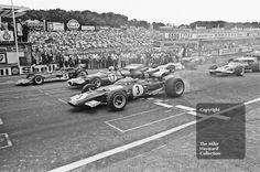 Jacky Ickx, Ferrari 312B, Jack Brabham, Brabham BT33 and Jochen Rindt, Lotus…